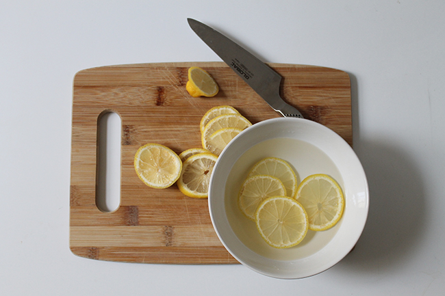 Clean your grimy microwave with lemon slices and water