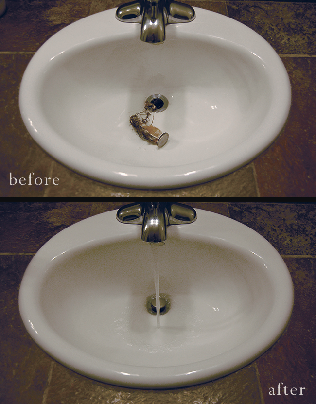 Bathroom Sinks Clogged how to un-clog your bathroom sink - a clean bee