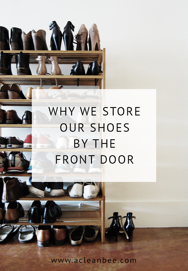 Front Door Shoe Storage Is A Great Way To Reduce Entry Way Clutter