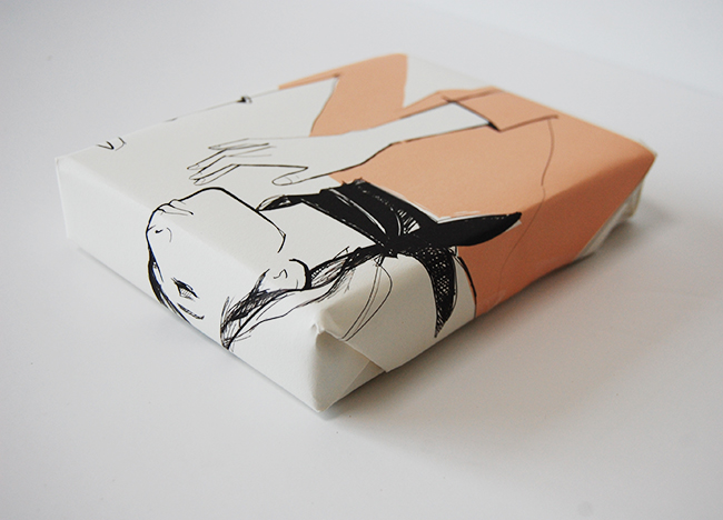 Recycled gift wrap ideas - old calendar