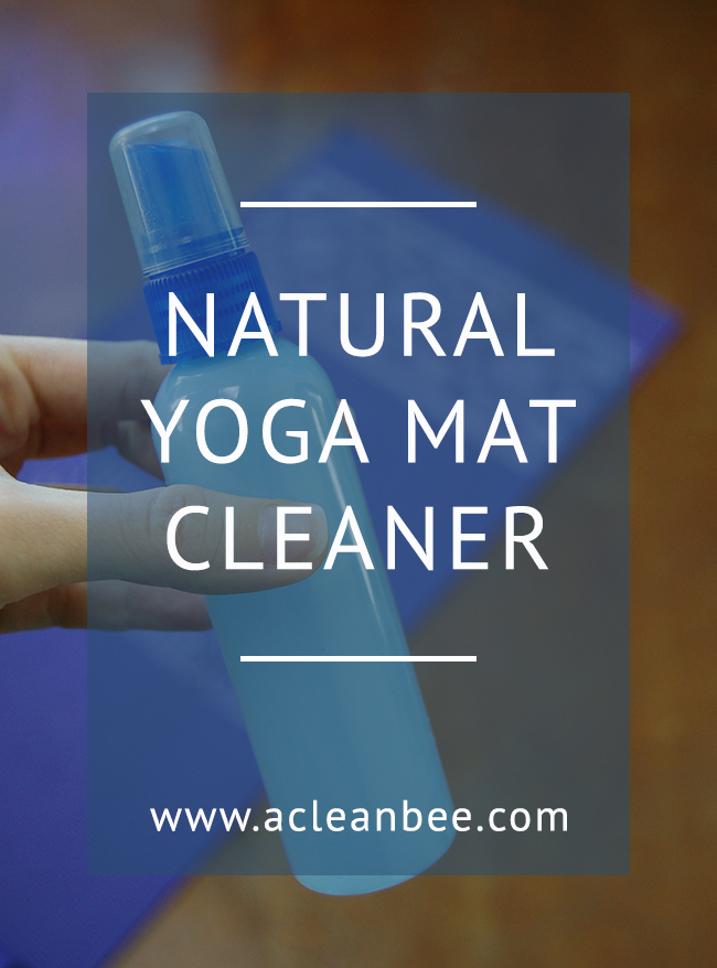 DIY natural yoga mat cleaner recipe