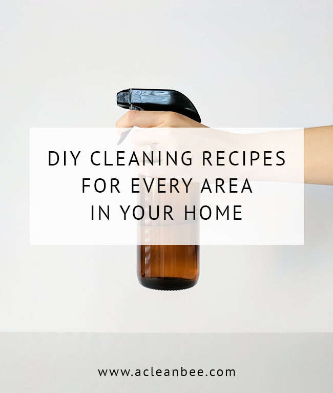 19 DIY cleaning products for every area of the home made from only 6 inexpensive natural ingredients!