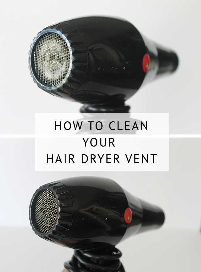 How to clean a hair dryer filter - this will reduce the time it takes to dry your hair and keep your hair dryer in great shape!