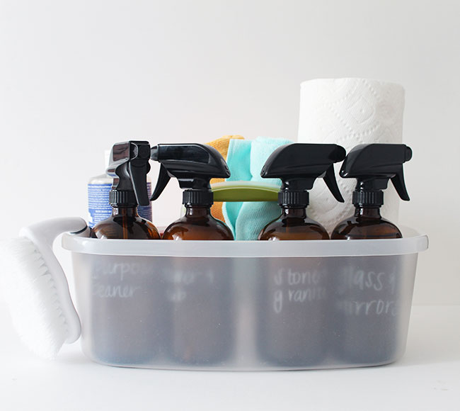 Natural DIY cleaning supplies kit