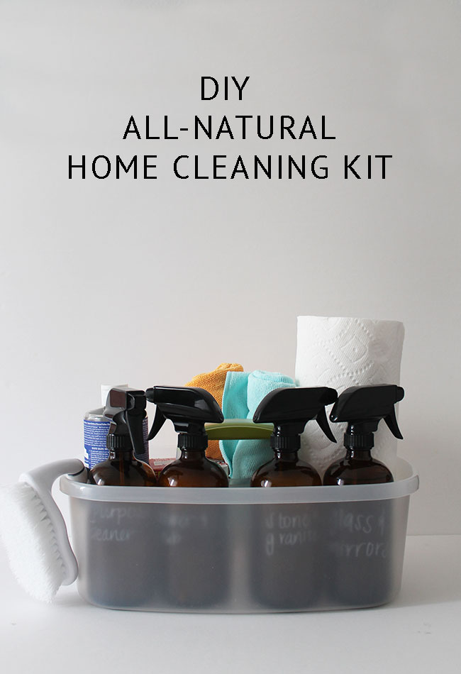 How to create a natural DIY cleaning supplies kit