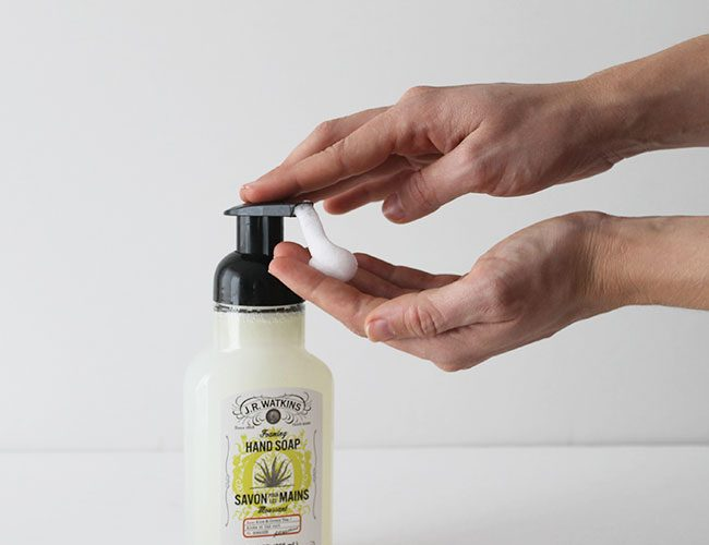 DIY Foaming Hand Soap - made with all natural ingredients