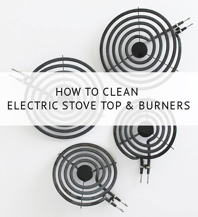 How to clean an electric stove top, coil burners, and drip pans