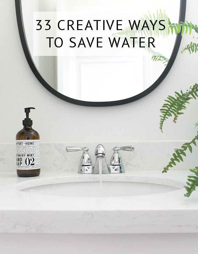 33 creative ways to save water this summer
